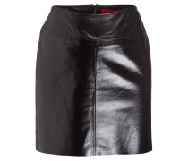 Lederrock SHINY - schwarz