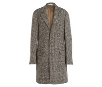 Mantel mit Alpaka-Anteil - schwarz/ grau