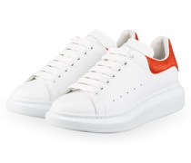 Plateau-Sneaker - WEISS/ ORANGE