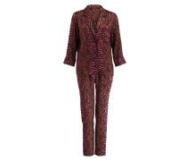 Pyjamashirt JUDE - pink/ schwarz/ beige