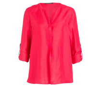 Bluse mit Leinenanteil - pink
