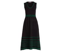Strickkleid ROMAINE - schwarz/ grün