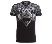 T-Shirt - schwarz/ weiss/ grau