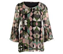 Bluse - grün/ rosa/ ecru