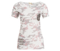 T-Shirt FREEDOM - offwhite/ rosé/ taupe