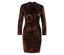 Kleid mit Paillettenbesatz