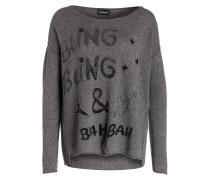 Pullover - grau/ schwarz meliert