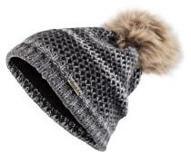 Mütze MAGNOLIA mit Bommel in Pelzoptik