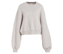 Sweatshirt IDILPARK - grau/ ecru meliert