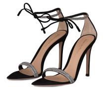 Sandaletten mit Schmucksteinbesatz