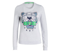 Sweatshirt TIGER - grau meliert