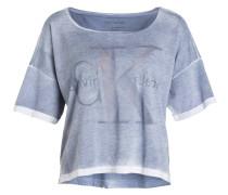 T-Shirt TECA - blaugrau meliert