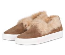 Slip-On-Sneaker BURKE mit Fellbesatz