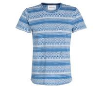 T-Shirt THECHE - blau/ weiss