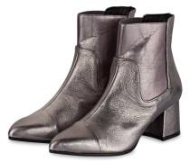 Stiefelette - silber metallic