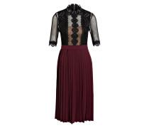 Kleid MAJA - schwarz/ burgunder