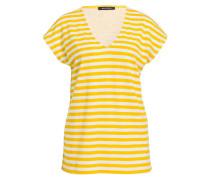 T-Shirt - weiss/ gelb