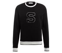 Sweatshirt - schwarz/ weiss
