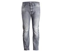 Destroyed-Jeans RONNIE Skinny-Fit - grau