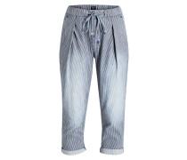 7/8-Jeans DONNA - blau/ weiss gestreift