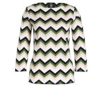 Shirt LOUNA - grün/ beige/ schwarz