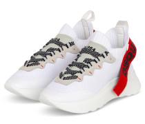 Plateau-Sneaker SPEEDSTER - WEISS/ ROT