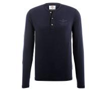 Henley-Shirt - navy