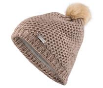 Mütze BENITA mit Bommel in Pelzoptik