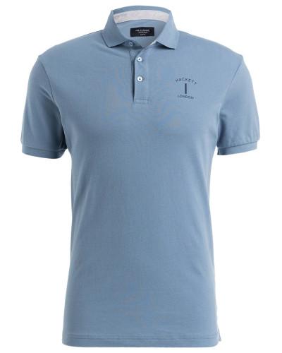 Piqué-Poloshirt Slim-Fit - hellblau