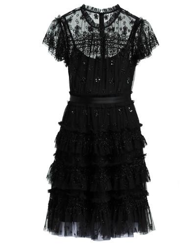 Kleid ANDROMEDA mit Schmucksteinbesatz