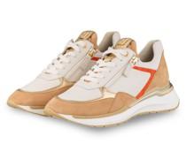 Plateau-Sneaker FUTURE - CAMEL/ WEISS