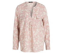 Seidenbluse - rosa/ beige