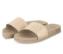 Pantoletten POOL - GOLD/ TAUPE
