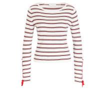 Pullover - weiss/ rot/ schwarz