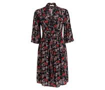 Kleid EDEN mit 3/4-Arm - schwarz