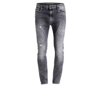 Destroyed-Jeans SKINNY TAPER Skinny-Fit