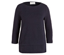 Sweatshirt mit 3/4-Arm - navy