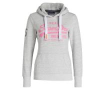 Hoodie - grau/ pink