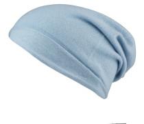 Cashmere-Mütze - hellblau