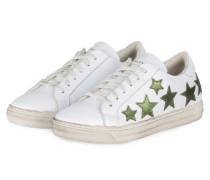 Sneaker - weiss/ grün metallic