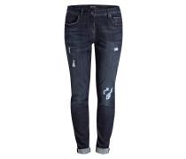 Destroyed-Jeans - dark blue denim