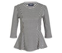 Shirt - grau/ weiss gestreift