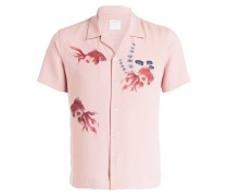 Halbarm-Hemd Slim-Fit - rosé