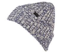 Mütze - blau/ creme/ beige
