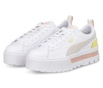 Plateau-Sneaker MAYZE LTH - WEISS/ CREME