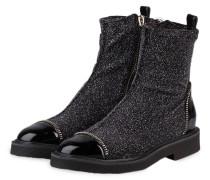 Boots - schwarz/ silber