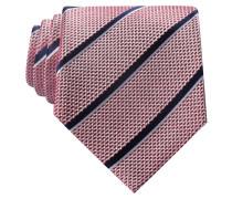 Krawatte - rot/ navy gestreift