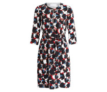 Kleid DILAMY - schwarz/ weiss/ rot