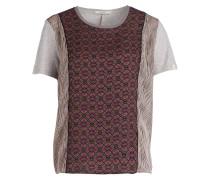 T-Shirt - hellgrau/ dunkelbraun/ rose´