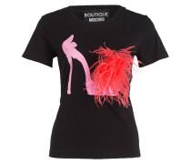 T-Shirt - schwarz/ rosa/ neonpink